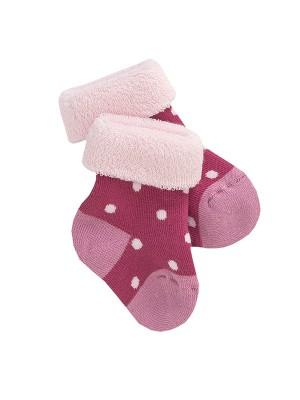 Șosete bebeluși roz închis, din bumbac organic