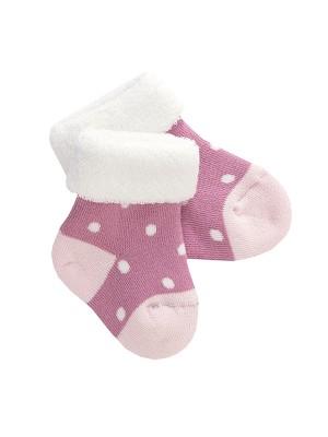 Șosete bebeluși roz deschis, din bumbac organic