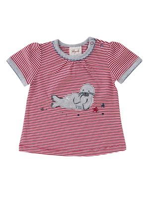 Tricou fetițe cu focă zâmbitoare, din bumbac organic