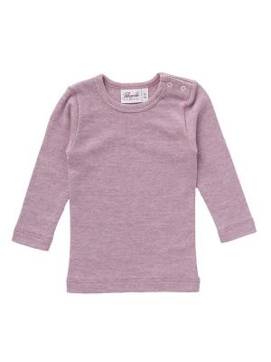Bluză roz, cu lână, mătase și bumbac organic