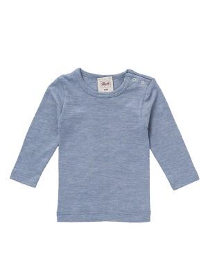 Bluză cu lână și mătase, albastru deschis
