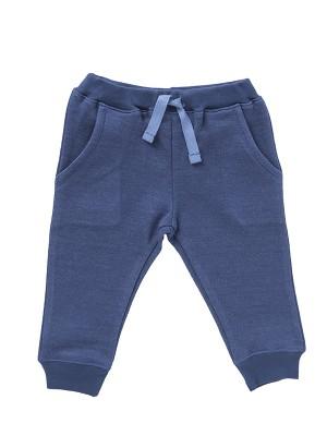 Pantaloni de trening pufoși, albaștri, din bumbac organic