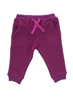 Pantaloni de trening, roz închis, din bumbac organic