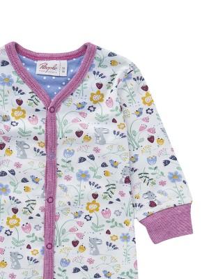 Salopetă-pijama de primăvară, cu floricele