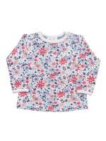 Bluză mânecă lunga, model câmp de flori, din bumbac organic