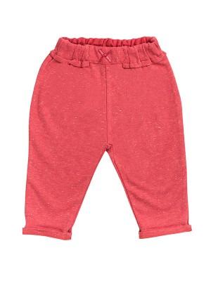 Pantaloni de trening lejeri, din bumbac organic roșu