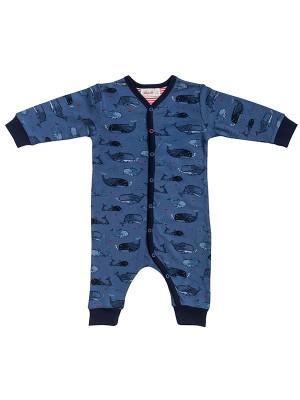 Salopetă-pijama aventură în ocean, din bumbac organic