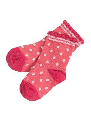 Șosete bebeluși, roz deschis, din bumbac organic