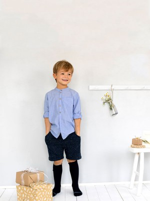 Pantaloni scurți eleganți, pentru zile de sărbatoare, din bumbac organic