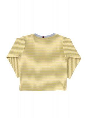 Bluză cu dungi galbene, din bumbac organic