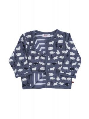 Jachetă reversibilă de toamnă-iarnă, model oițe, din bumbac organic