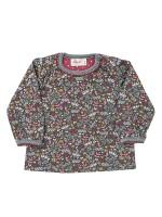 Bluza Scufiței, cu floricele, din bumbac organic