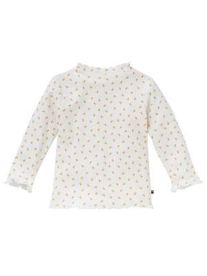 Bluză elegantă, pe gât, din bumbac organic