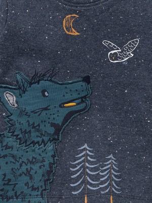 Bluză de toamnă, scene din pădure, din bumbac organic