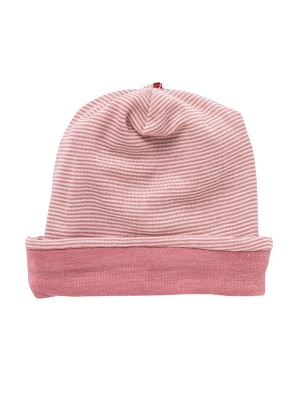 Căciulă pentru copii, din dublu strat de lână și mătase, roz