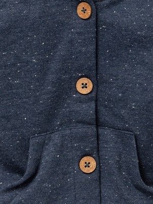 Jachetă sweat de toamnă, gri-bleumarin, din bumbac organic