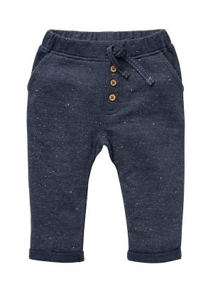 Pantaloni de trening pentru toamnă, din bumbac organic gri-bleumarin