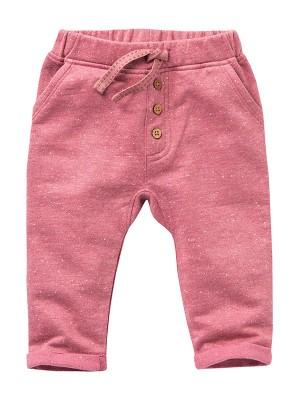 Pantaloni de trening pentru toamna, roz, din bumbac organic