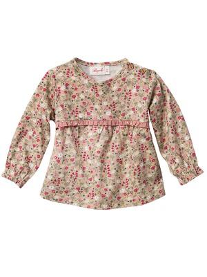 Bluză cu model câmp de flori, din bumbac organic