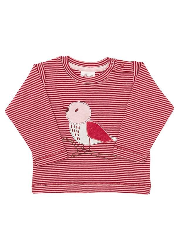 Bluză, în dungi roșii, din bumbac organic