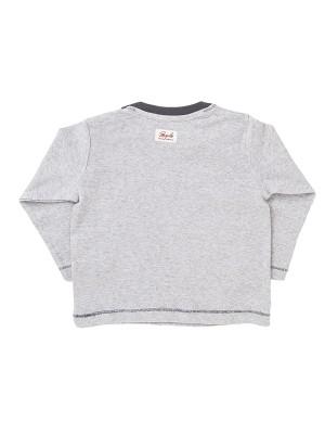 Bluză gri, din bumbac organic