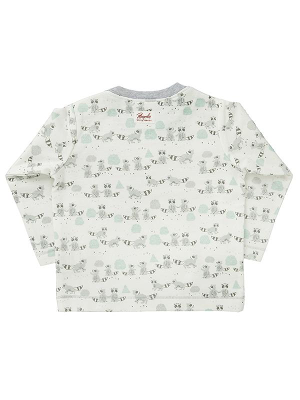 Bluză cu model ratoni, din bumbac organic