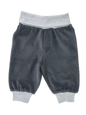 Pantaloni din catifea antracit