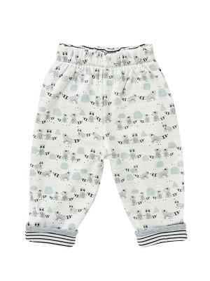 Pantaloni reversibili, cu model ratoni, din bumbac organic