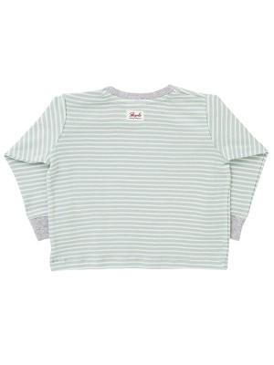 Bluză în dungi mentă, din bumbac organic