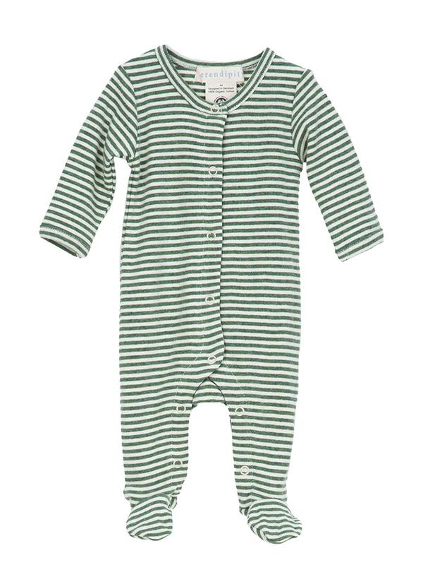 Costumaș bebeluși, in dungi verzi