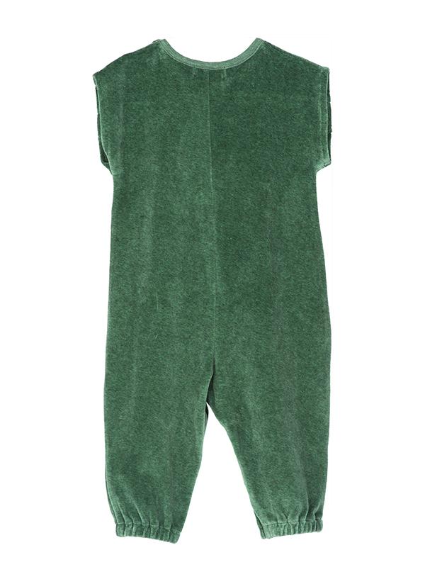 Costumaș elegant din catifea verde