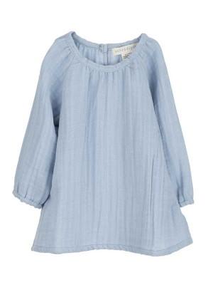 Rochiță muselină albastră