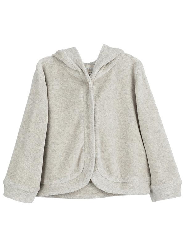 Jachetă catifea gri