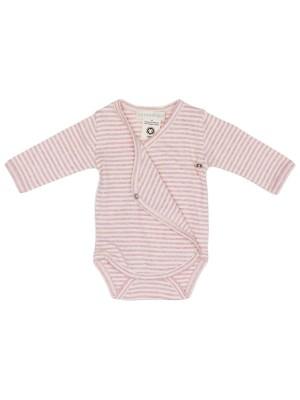 Body bebeluși, în dungi, roz