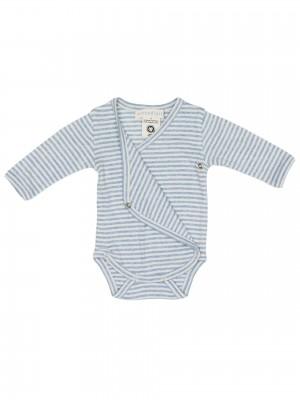 Body bebeluși, în dungi bleu-ciel