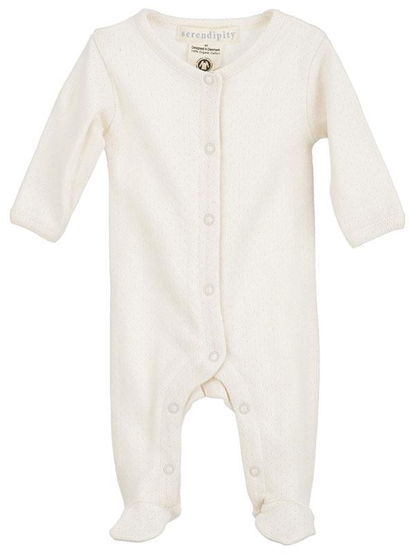 Costumaș prematuri, ivoire, model pointelle