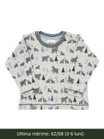 Bluză, model urși, din bumbac organic